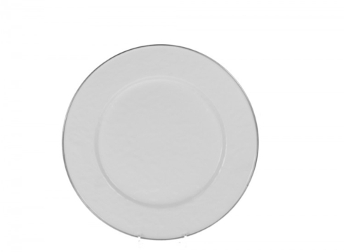 $17.00 ENAMEL WHITE DINNER PLATE