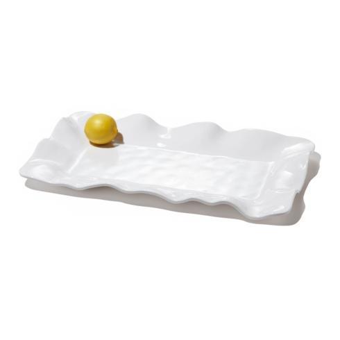 $48.00 Havana rect long platter white
