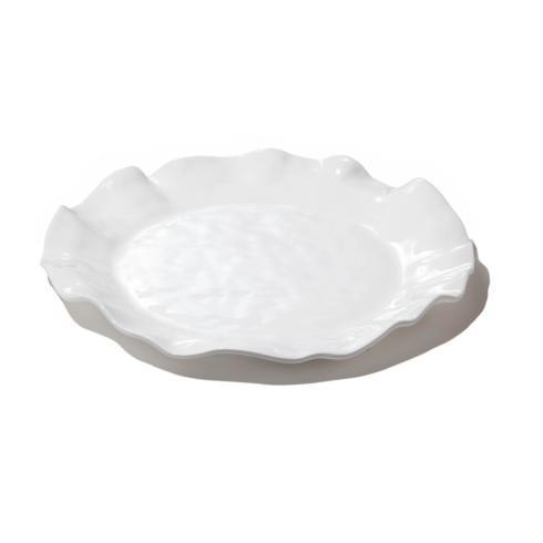 $54.00 Havana round platter white