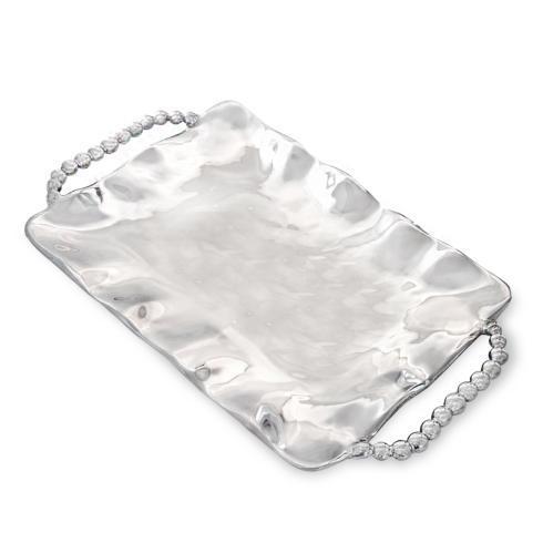 $146.00 perla sq tray w/handles