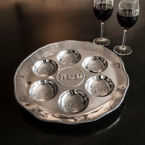$133.00 Seder Plate with Pearls