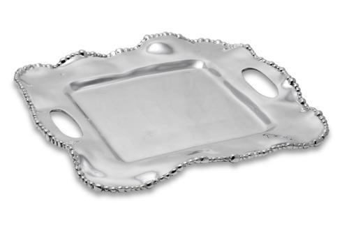 $144.00 Kristi Square Tray with Handles (medium)
