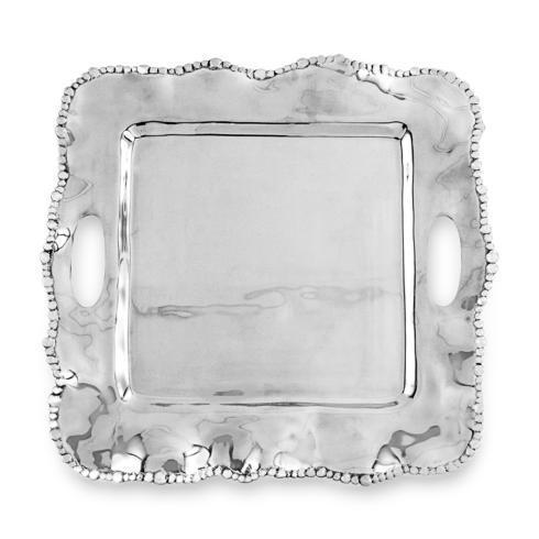 $151.00 Kristi Square Tray with Handles (medium)
