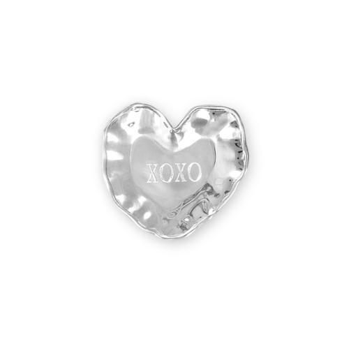 """$43.00 heart engraved tray (""""XOXO"""")"""