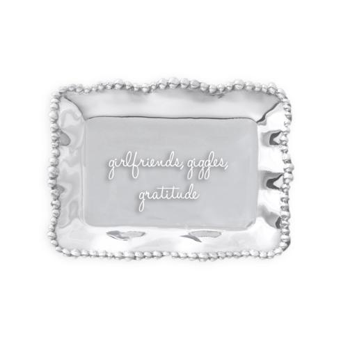 $39.00 Organic Pearl rect tray girlfriends, giggles, gratitude