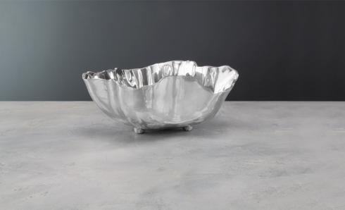 $185.00 onyx bowl w/feet (lg)