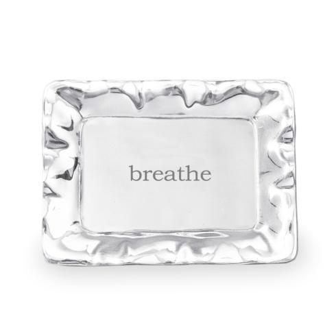 $39.00 Vento rect engraved tray- breathe