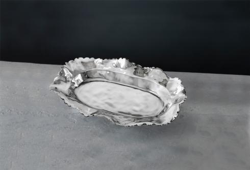 $134.00 ovl petal platter (lg)