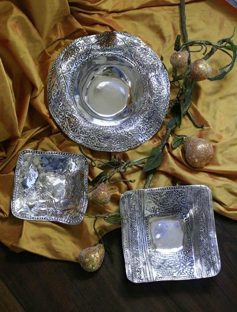$48.00 Leyla Square Bowl W/ Pearls (Sm)