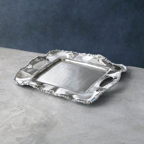 $115.00 Kristi Square Tray with Handles (small)