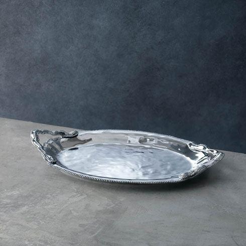 $162.00 Denisse Oval Tray with Handles