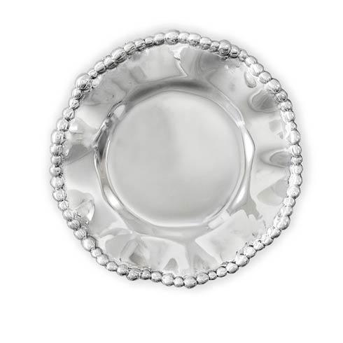 $39.00 Organic Pearl Round Wine Plate Plain