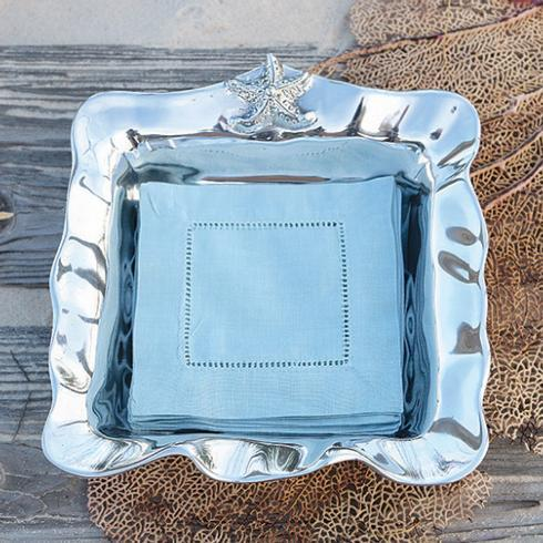 $62.00 Ocean Starfish Napkin Box