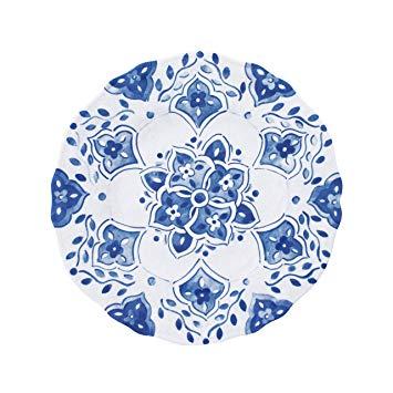 $16.00 Moroccan Blue salad plate