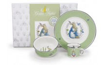 $55.00 Polka Dot Peter Rabbit Baby Set