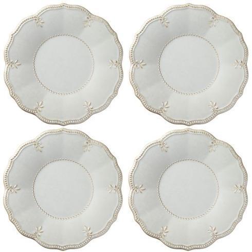 $58.00 French Perle Gray Melamine set of 4 dinner plates