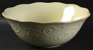 $86.00 French Perle Pistachio Serving Bowl