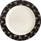 $25.00 Accent/Salad Plate (Black Wish)