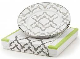 $55.00 Gray and White Serving Tray