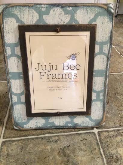 $48.95 5x7 White and Teal Frame
