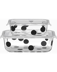 $36.00 Deco Dot - Rectangle Food Storage