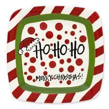 $30.95 Merry Christmas Polka Dot Plate