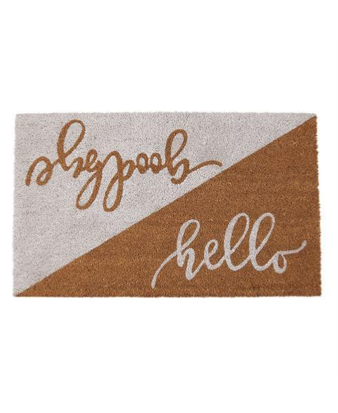"""$28.95 """" Hello, Goodbye"""" Doormat"""