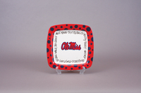 $35.00 Ole Miss Square Plate