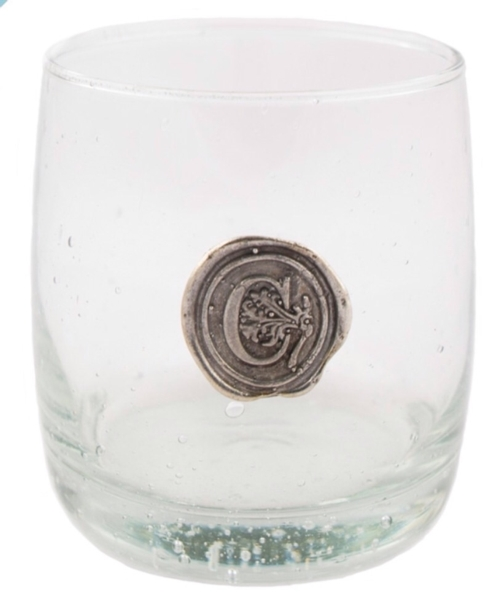 $19.00 Juice Glass - (with personalized letter or symbol)
