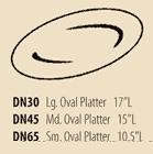 $125.00 Medium Oval Platter