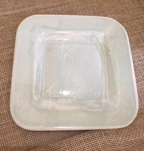 $38.00 Aqua Square Dessert Plate