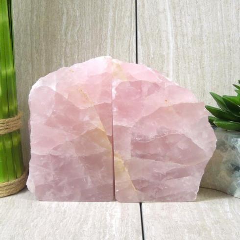 $124.00 Rock Paradise Rose Quartz Bookends
