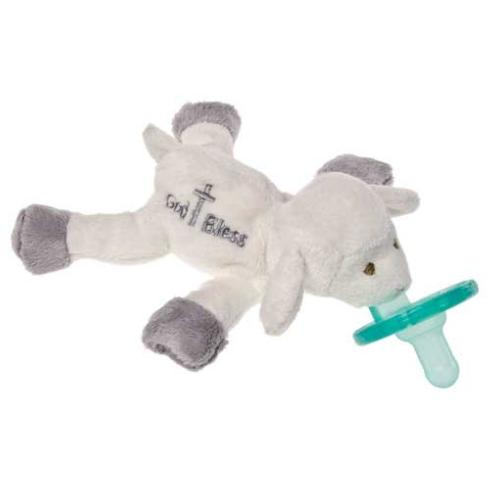 $20.00 Wubbanub Infant Pacifier - God Bless Lamb