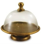 $145.00 Gold/Glass Cake Pedestal W/Dome