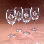 $18.00 20oz Personalized Wine Glass