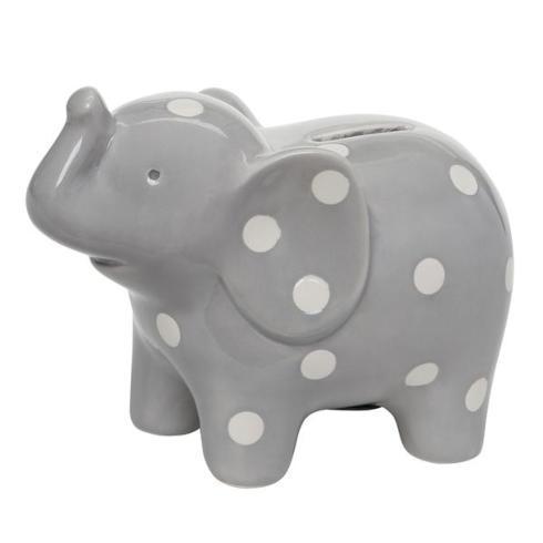 $30.00 Grey Ceramic Elephant Bank