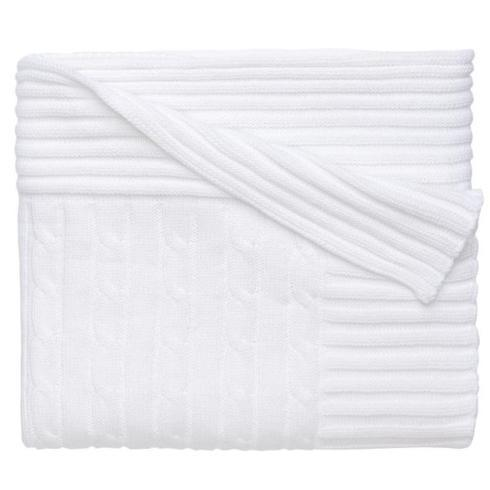 $48.00 White Cable Blanket