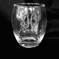 $14.00 Personalized Stemless Acrylic Wine Glass