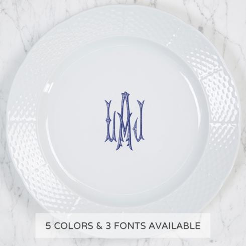 $68.00 Weave Charger Plate With Monogram