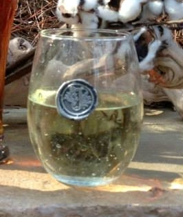 $17.99 Stemless wine glass with Initial