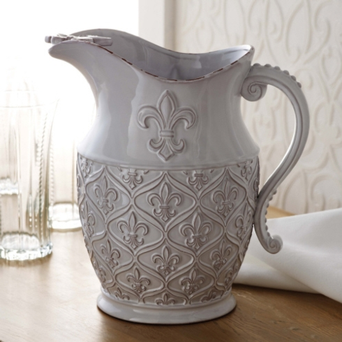 $47.00 Fluer-de-lis pitcher