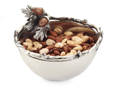 $43.00 Metal Acorn Condiment Bowl
