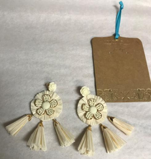 $35.00 IVORY CONSTANTINA EARRINGS