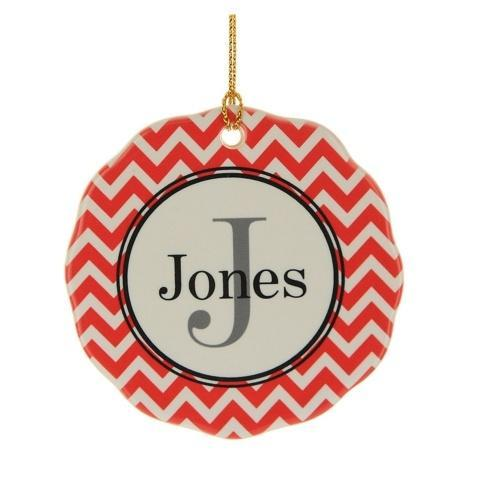 $16.00 Ornament-Red Chevron