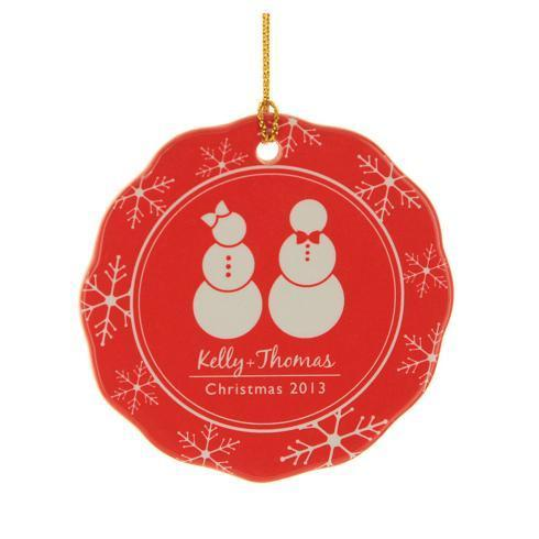 $16.00 Ornament-Mr & Mrs Snowman