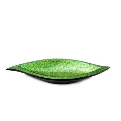 $21.95 Green & Gold S-Shape Tray