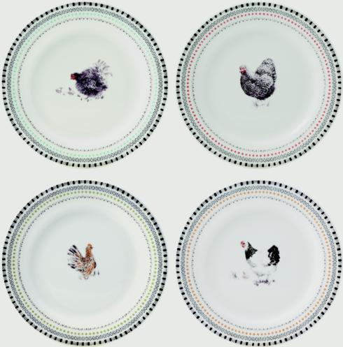 $80.00 Canape Plates - Set of 4 Assorted