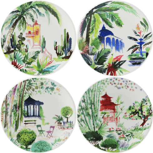 $130.00 Canape Plates - Set of 4 Assorted