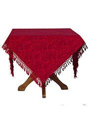 $56.00 Red Jacquard Tablecloth