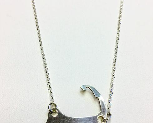 $80.00 Sterling Silve Cape Cod Map Necklace